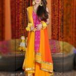Mehndi Dresses 2014 For Pakistani Stylish Girls (4)