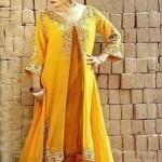 Latest Mehndi Dresses Designs For Girls 2014 2015 (3)