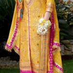 Latest Wedding Mehndi Dresses for Girls (1)