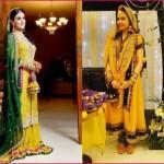 Latest Wedding Mehndi Dresses for Girls (2)