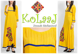 Kolaaj Kurta Designs 2014 For ladies