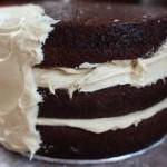Cream & Chocolate Mix Cake