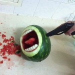 funny pic of shooting watermelon