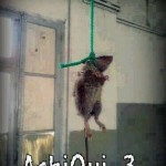 funny pic to rat hanged