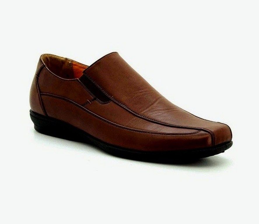 brown colour leather shoes for men