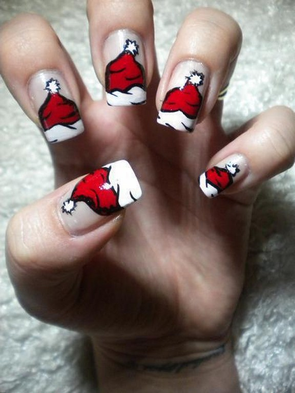 red colour nail art pictures