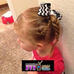 little girl with owesome haircut