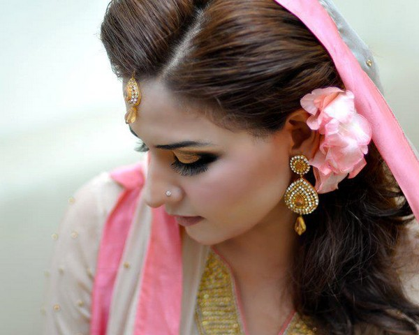 pakistani wedding marriage hair styles for girls 2015