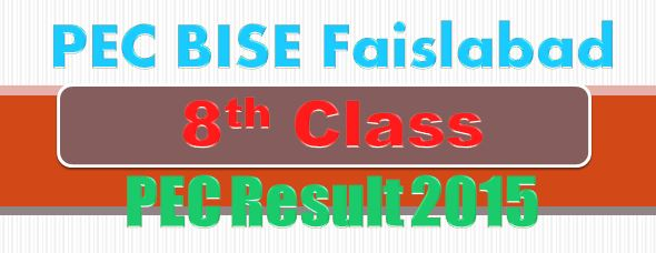 Bise Faisalabad Board 8th Class Result 2015 Chiniot Jhang