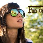 stylish girl with sun glasses