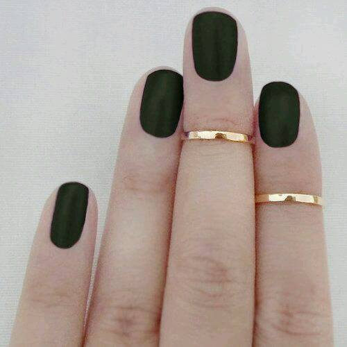 beautiful black colour nails by matte