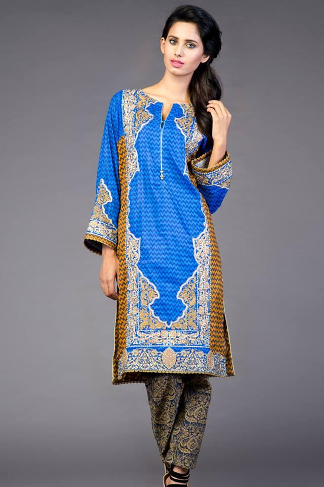 alkaram blue colour kurtas for women-webstudy.pk