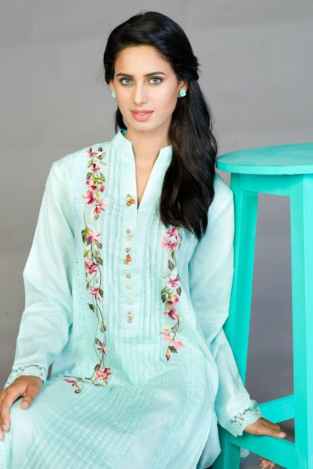 blue colour eid dresses 2015