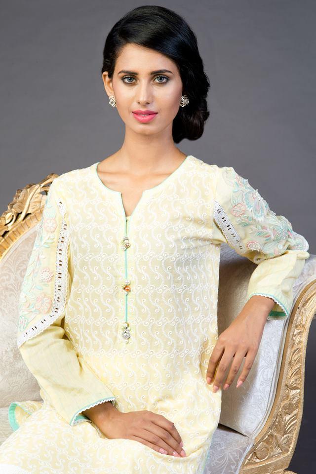 white colour eid kurta for girls-webstudy.pk