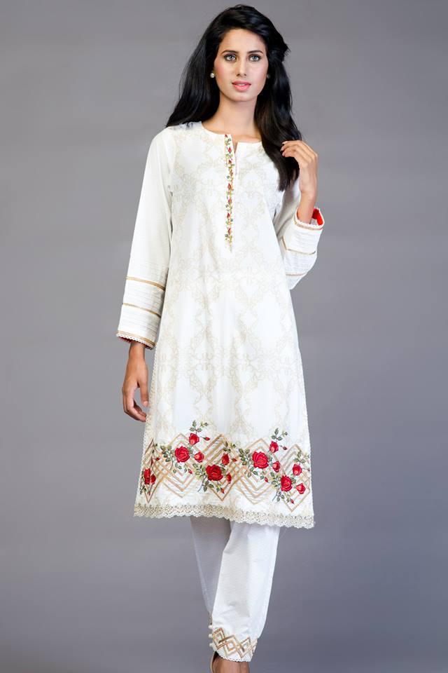 white colour kurtas for girls-webstudy.pk