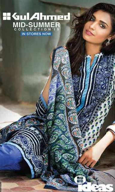 Gul Ahmed Mid-Summer collection 2015