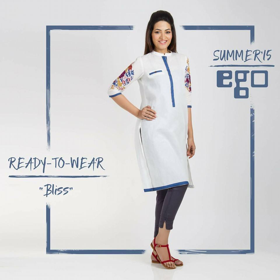 bliss kurta with beautiful prints by ego brand-webstudy.pk