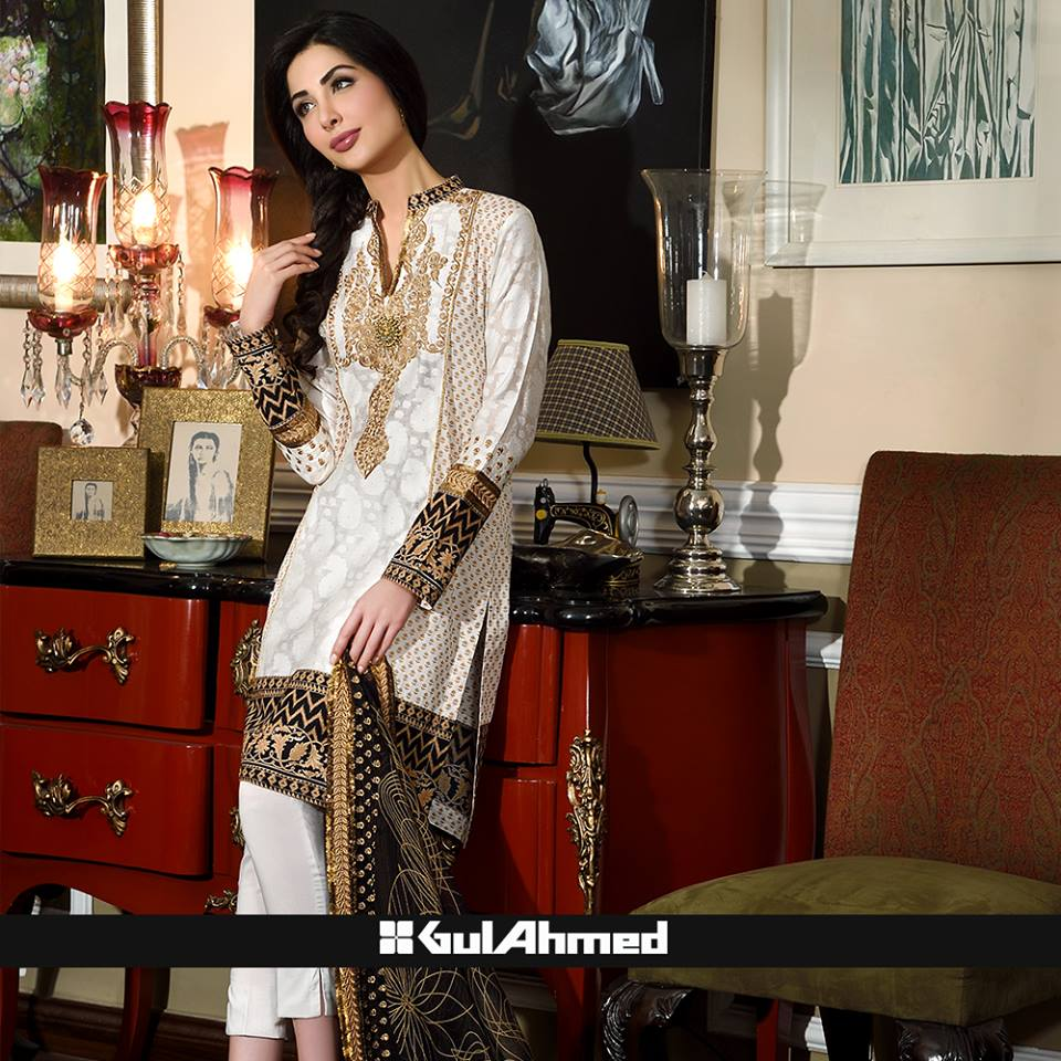 gul ahmad fashion lawn dresses 2015
