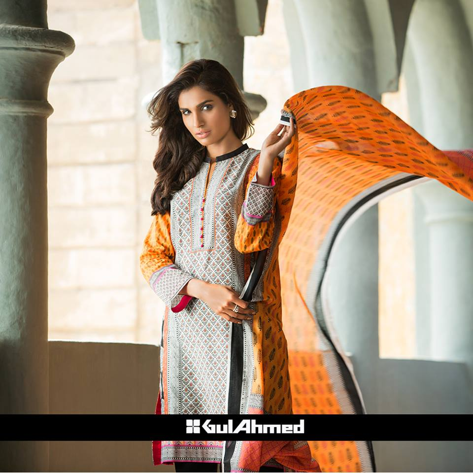 gul ahmad new lawn dresses 2015