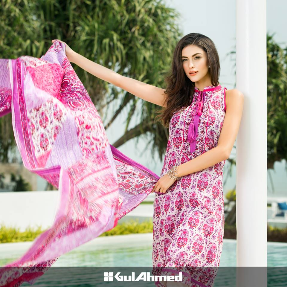 lawn dresses by gul ahmad