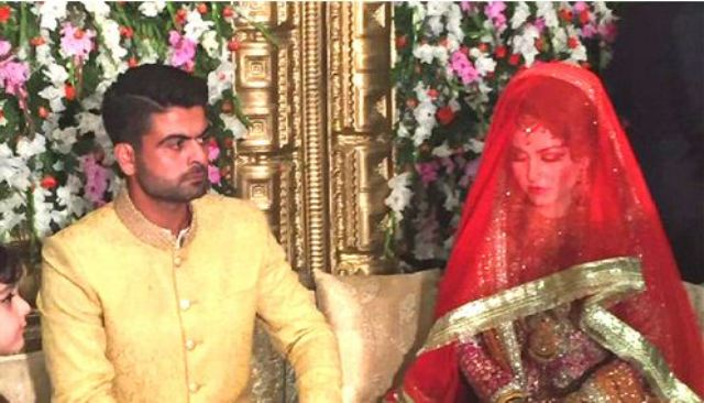 Ahmed Shehzad with Sana Marriage Pictures
