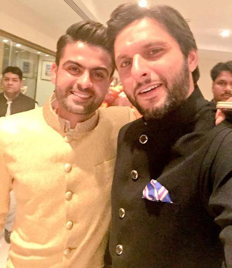 Ahmed Shehzad with Shahid Afridi on Marriage Ceremony