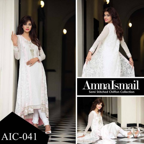 Amna-Ismail-Chiffon-Collection-2016-2017-in white colour
