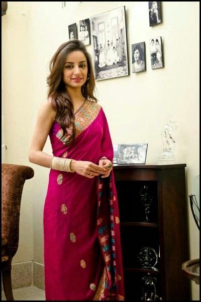 Sarwat-Gilani hot & sexy pics in saree