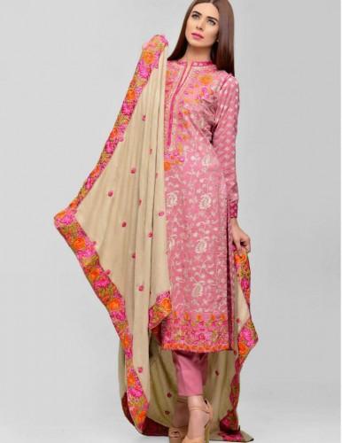 Areeba-Saleem-Winter-Peach-Leather-Jacquard-Shawl-Collection-2016-By-ZS-webstudy.pk