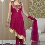 latest Front Open Shirt Gown Design Pakistani Frocks-webstudy.pk