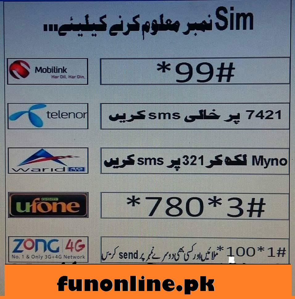 how to check ufone sim number check code-webstudy.pk