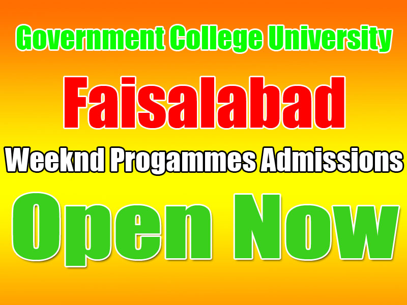 GCUF, Faisalabad Weekend Programs Admissions 2019 | WebStudy