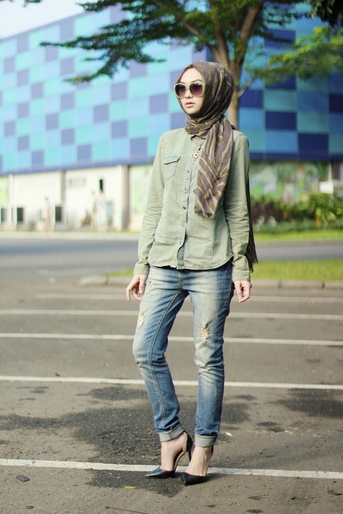winter-hijab-style-with-jeans 2018