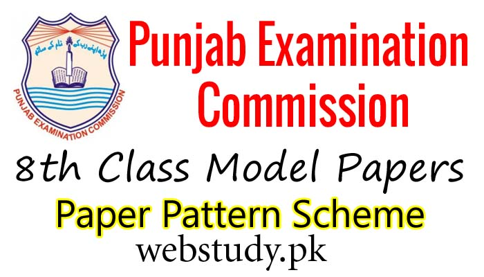 pec 8th class model papers