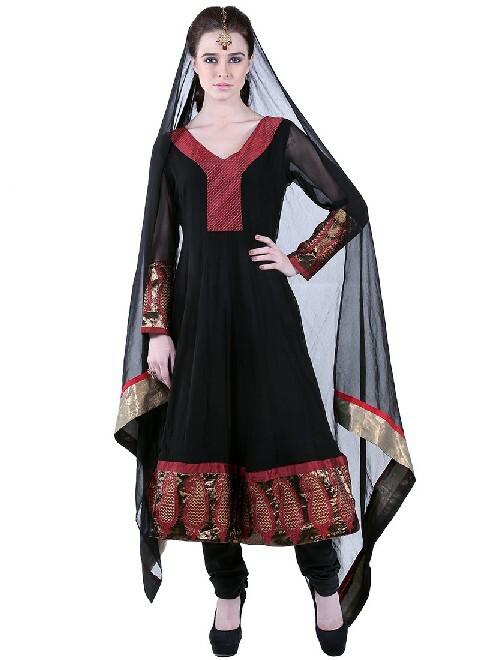 black color eid day dress frok for girls
