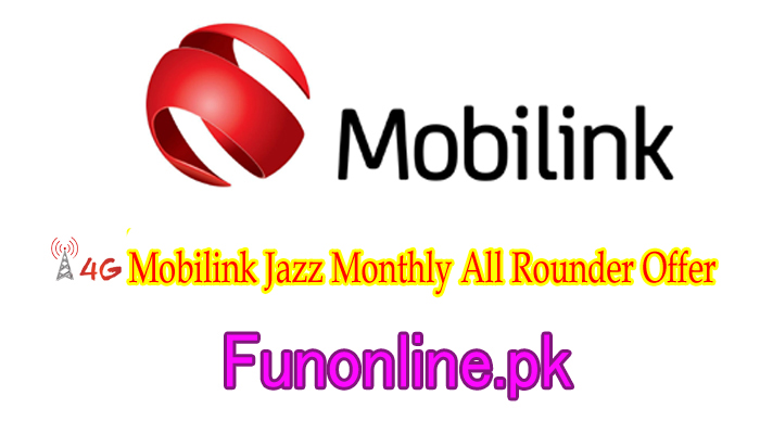 mobilink jazz monthly all rounder offer detail subscribe code charges