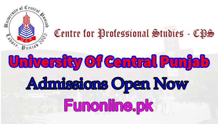 university of central punjab lahore admissions 2018 last date fee structure