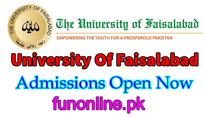 university of faisalabad admissions 2018