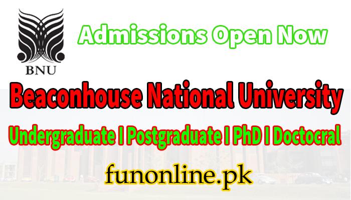 beaconhouse national university lahore admissions