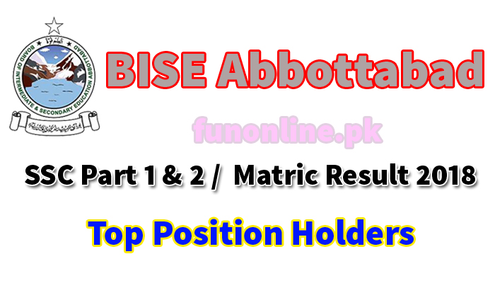 bise abbottabad matric result 2018 top position holders name list