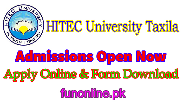 hitec university taxila admission 2018 last date