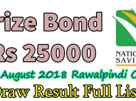 prize bond 25000 list draw result complete download