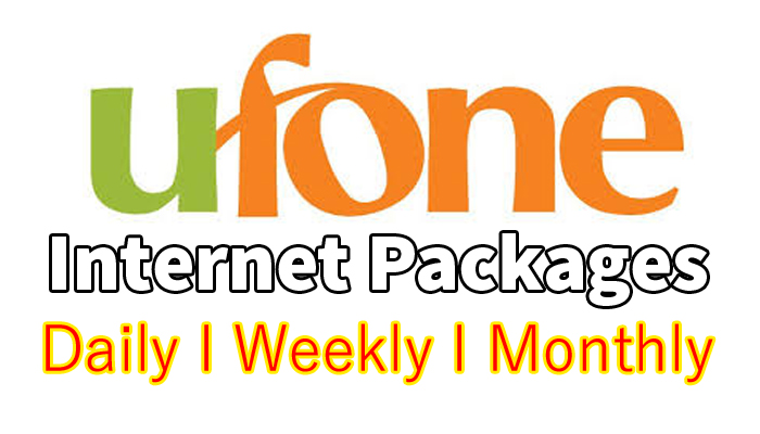 ufone interne packages daily weekly monthly 3 days social bundles