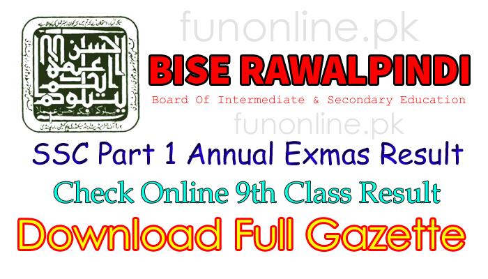 bise rawalpindi matric 9th class result 2018