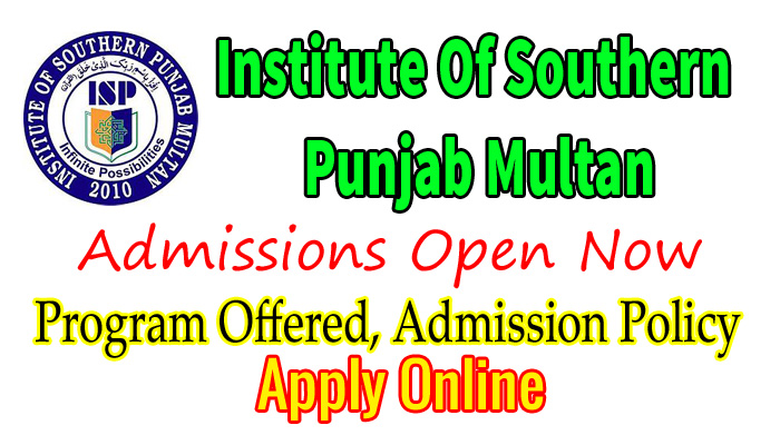 institute of southern punjab multan admission 2018