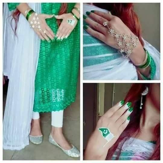 beautiful girls facebook profile dp for defence day pakistan
