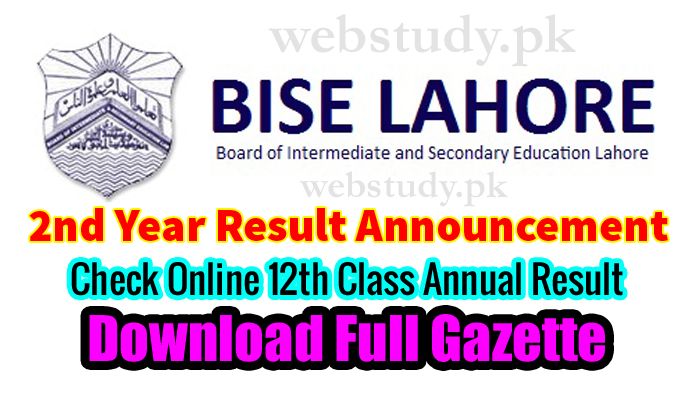 bise lahore 2nd year result 2018