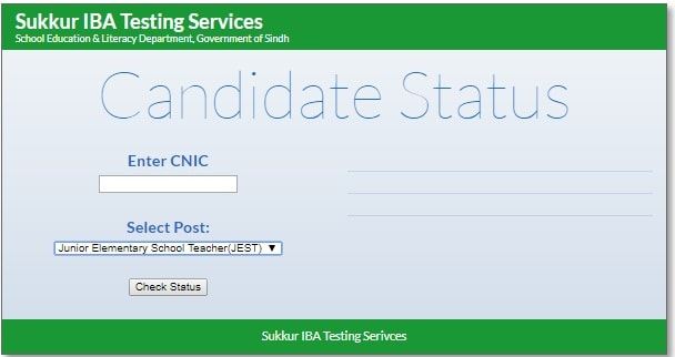 iba testing services jest and ect candidates status