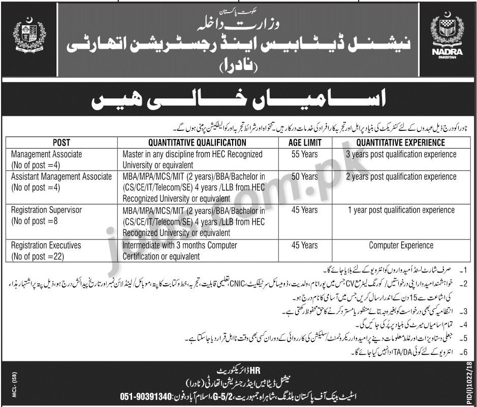 nadra-sep-2018-jobs