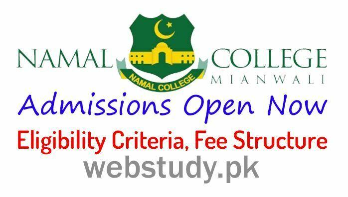 namal college mianwali 2018 admission
